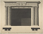 Design for a Chimneypiece with Ionic columns, a Frieze, and Cornice