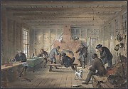 Telegraph House, Trinity Bay, Newfoundland: Interior View of the Mess Room, 1858