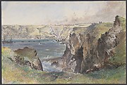 Foilhummerum Bay, Valentia, from Cromwell Fort: The Caroline Laying the Earthwire on July 21st, 1865