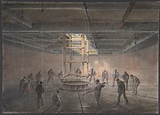 Interior of One of the Tanks on Board the Great Eastern: The Cable Passing Out