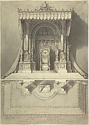 Elevation and Ground Plan for a Papal Throne