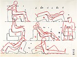 Multi-Chair (position studies: recto, seven; verso, three)