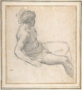 Study of a Seated Youth for the Age of Gold