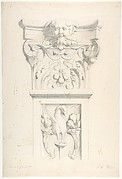 Drawing after a XVIth Century Marble Pilaster and Capital.