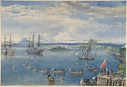The Cable Fleet Leaving Ireland, July 1858