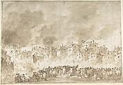 The Fire at San Marcuola (recto); Roman Ruins (verso)