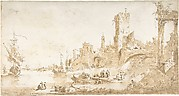 Capriccio with a Seaport and Classical Ruins
