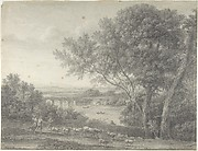 Classical Landscape with Herdsmen in the Foreground