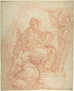 Seated Allegorical Figure of Divine Wisdom