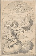Putto Holding a Cloud and Horn