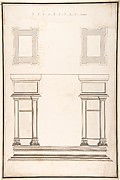Entrance Portal: Plan and Elevation, Each Pier Consisting of Two Pilasters