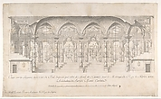 Longitudinal Section of a Ballroom Decorated for the Marriage of the King of Naples to the Archduchess of Austria