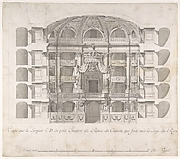 Transverse Section of the Small Theater in the Palace of Caserta with a View Towards the Royal Box