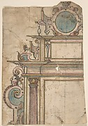 Fragment of architectural frame