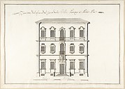 Design of the Side Elevation for the Casino of the Villa Patritj [Patritii] at Porta Pia