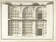 Section (Interior Elevation) of a Columbarium