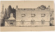 Stone House in the French Medieval style, Side Elevation (possibly for Dongan Hills, S. I.)