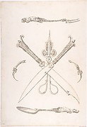 Design for Spoon, Fork, Two Knives (Crossed over scissors), Scissors, Ear Spoon and Toothpick