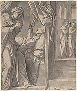 The Death of Saint Hilary; verso: Sketch of an Arm