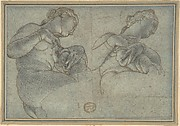 Two Studies of a female Figure or Statue