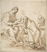 Saint Adoring the Madonna and Child