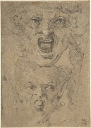 Two Studies for a Grotesque Head