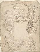 Design for a Cartouche (recto); Design for a Cartouche (verso)