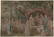 The Triumph of the Church: Ecclesia Presented with the Doctrines, Seated in a Chariot Attended by the Four Doctors of the Church