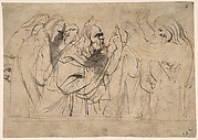 Christ and the Pharisees; verso; Christ and a Pharisee