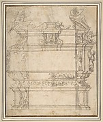 Design for a Tomb with Female Figures, Putti and Mythological Creatures