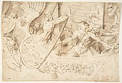 Naval Battle (Recto); Forest with Angel (Verso)