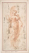 Allegorical Figure with Wreath