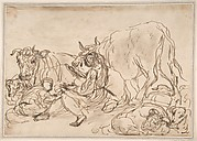 Figures with Cattle