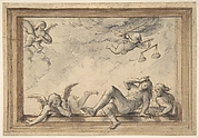 Design for a ceiling with an allegory of Justice