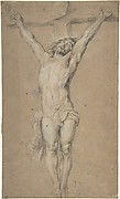 Christ on the Cross; verso: St. Jerome Reading by Candlelight, and Sketch of Male Torso (?)