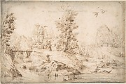 River View with Figures
