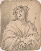 Man of  Sorrows, after Guido Reni (recto); Studies of arm and hands (verso)