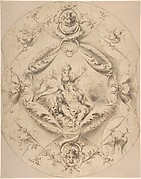 Ornamental Design with Diana and Endymion in a Central Cartouche