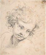 Head of a Child, copy of engraving by Luca Ciambulano