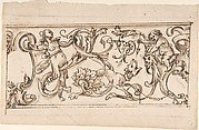 Drawing for a Frieze with Rinceau and Grotteschi