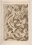 Overall Pattern of Acanthus Scrolls with a Putto