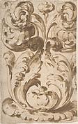 Symmetrical Design of Upward Growing  Acanthus Scrolls