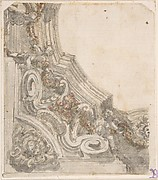 Design for the Decoration of the Corner of a Ceiling