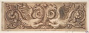 Design for a Frieze with Two Griffins