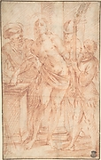 The Mocking of Christ (recto); Exterior View of a Church (verso)