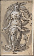 """Standing Female Figure with an Anchor (""""Spes"""")"""