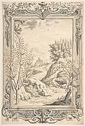 Landscape with Ornamental Frame