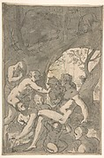 Women Bathing in a Wood, Surprised by a Satyr
