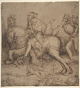 Knight on Horseback and Landsknecht