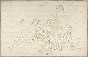 Nymphs, Satyr? and Putti